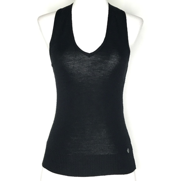 United Colors Of Benetton Sweaters - United Colors of Benetton Black Wool Vest A190854